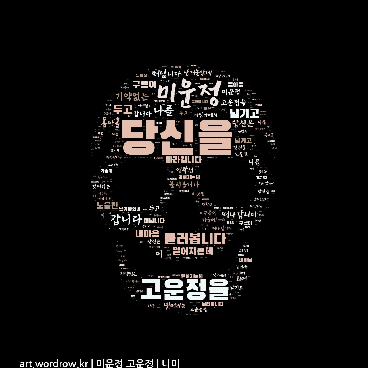 워드 클라우드: 미운정 고운정 [나미]-5